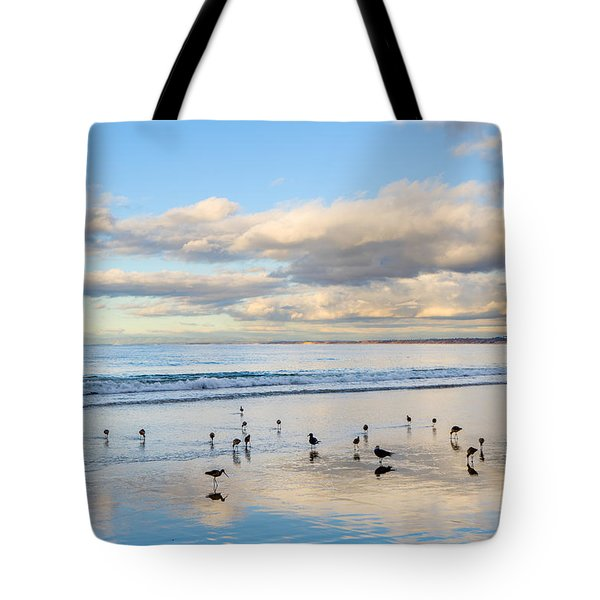 Birds On The Beach Tote Bag