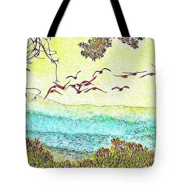 Birds Over Horizon - Boulder County Colorado Tote Bag by Joel Bruce Wallach