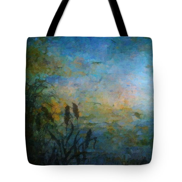 Birds Over The Lake Tote Bag