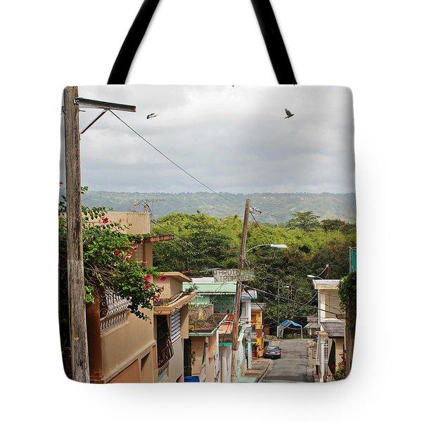 Birds Over Yabucoa Tote Bag
