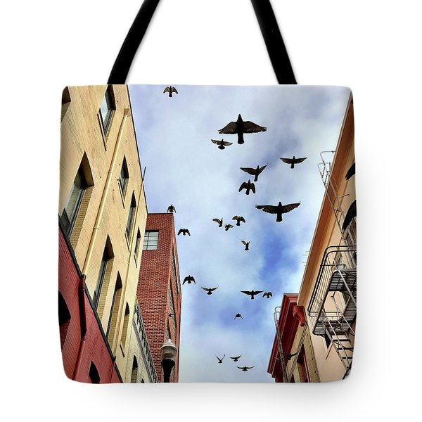 Birds Overhead Tote Bag