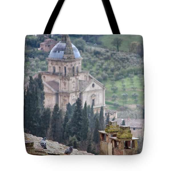 Birds Overlooking The Countryside Tote Bag