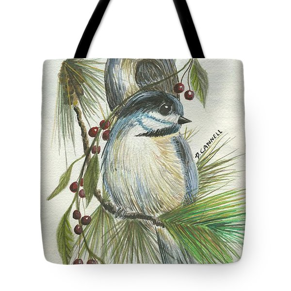 Birds Two And Fir Tree Tote Bag