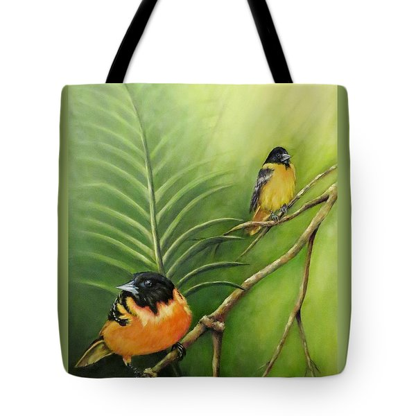 On The Lookout, Birds  Tote Bag