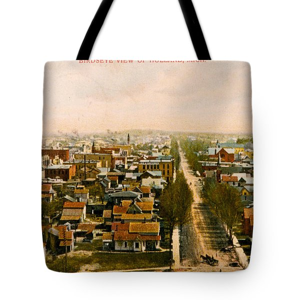 Birdseye View Of Holland Michigan Tote Bag