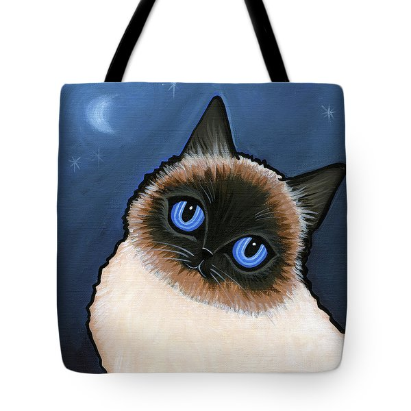 Birman Blue Night Tote Bag by Leanne Wilkes