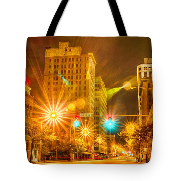 Birmingham Alabama Evening Skyline Tote Bag by Alex Grichenko