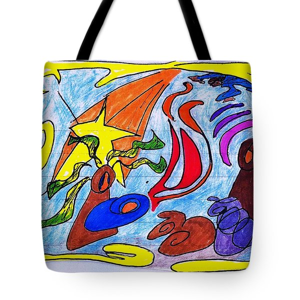 Birth Narrative Tote Bag by Martin Cline