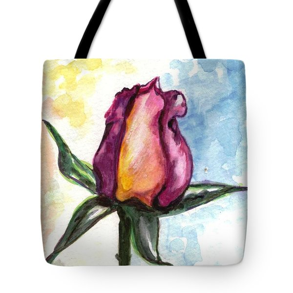 Tote Bag featuring the painting Birth Of A Life by Harsh Malik