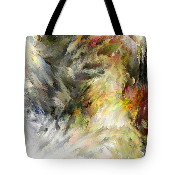 Birth Of Feathers Tote Bag by Dale Stillman
