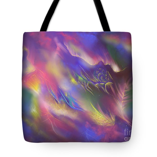 Tote Bag featuring the digital art Birth Of The Phoenix by Amyla Silverflame