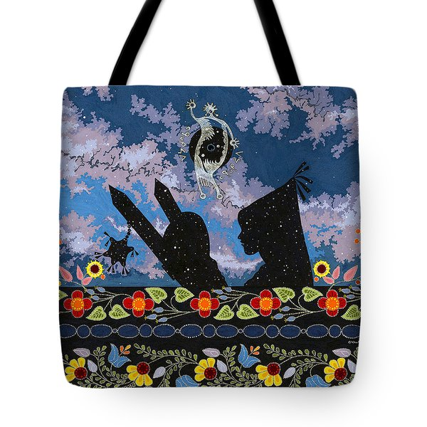 Tote Bag featuring the painting Birth Of The Universe by Chholing Taha
