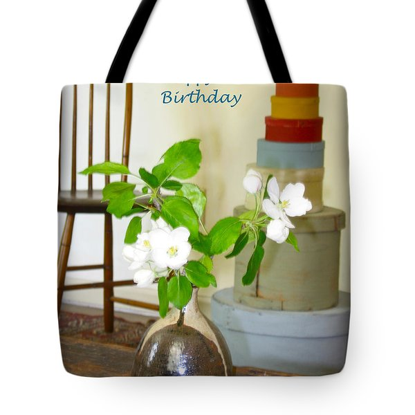 Birthday Apple Blossoms Tote Bag