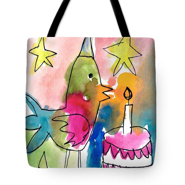 Birthday Bird Tote Bag