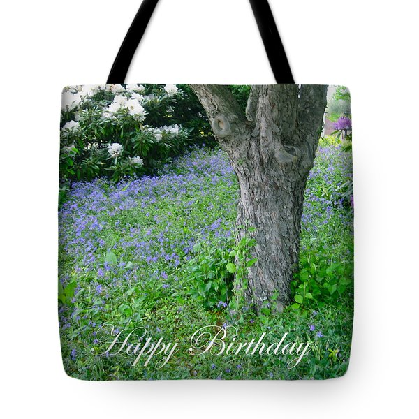 Birthday Carpet Of Blue Tote Bag