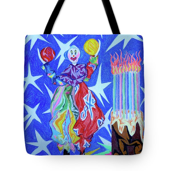 Birthday Clown Tote Bag