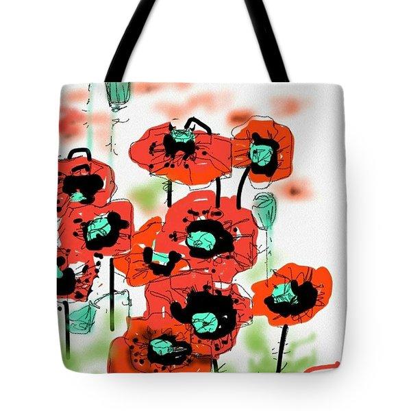 Birthday Field Of Flowers  Tote Bag