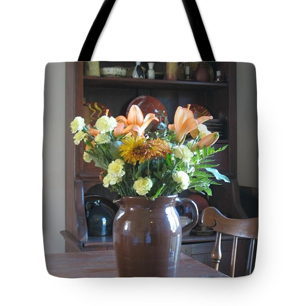 Birthday Jug Of Flowers Tote Bag