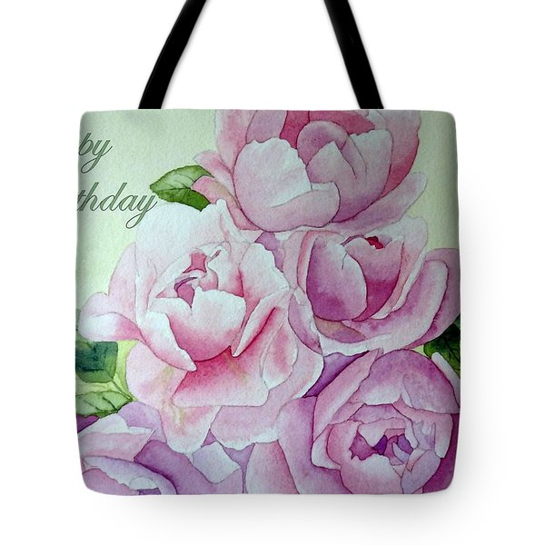 Birthday Peonies Tote Bag