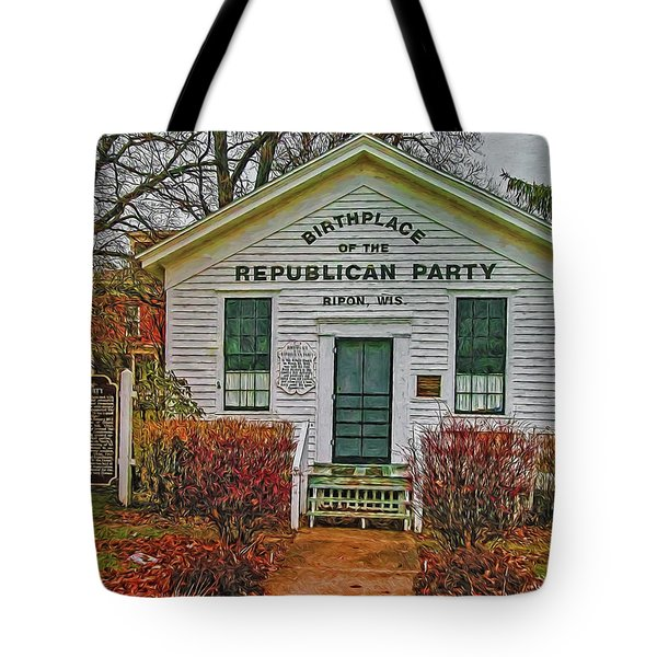 Birthplace Republican Party Tote Bag by Trey Foerster