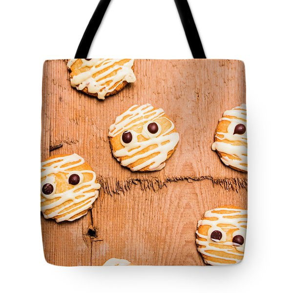 Biscuit Gathering Of Monster Mummies Tote Bag