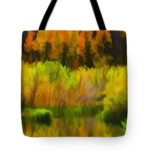 Bishop Creek Aspens Tote Bag