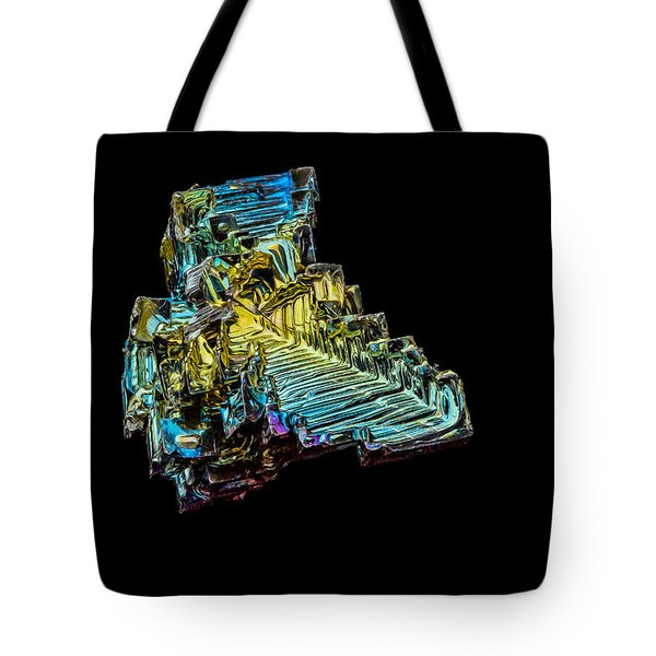 Tote Bag featuring the photograph Bismuth Crystal by Rikk Flohr