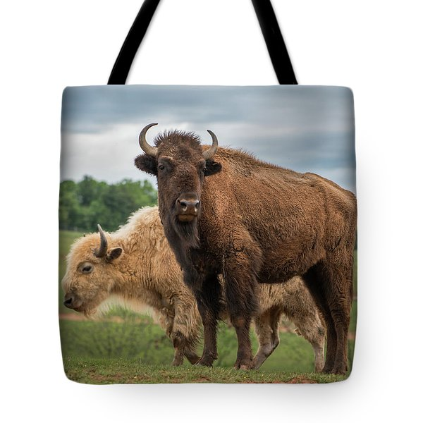 Tote Bag featuring the photograph Bison 10 by Joye Ardyn Durham