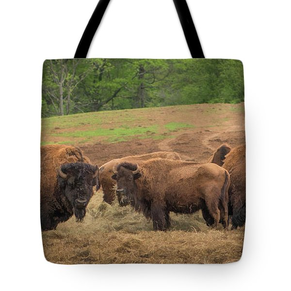 Tote Bag featuring the photograph Bison 2 by Joye Ardyn Durham