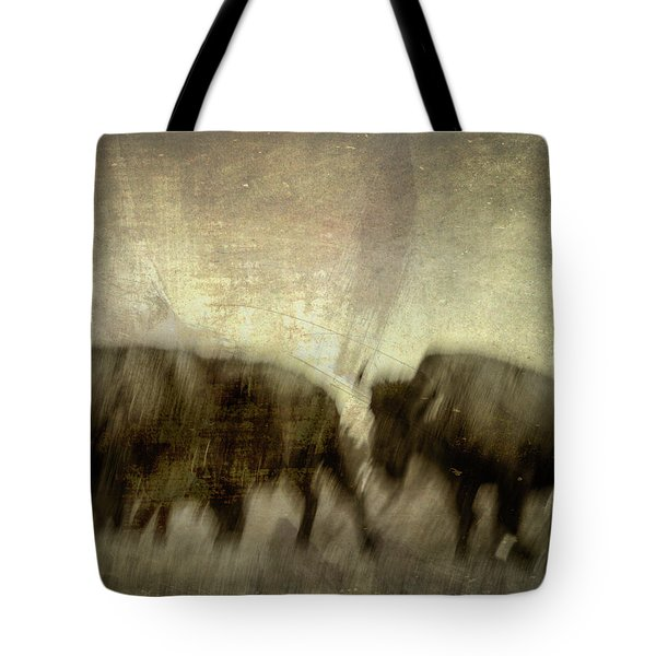 Tote Bag featuring the photograph Bison 3 by Joye Ardyn Durham