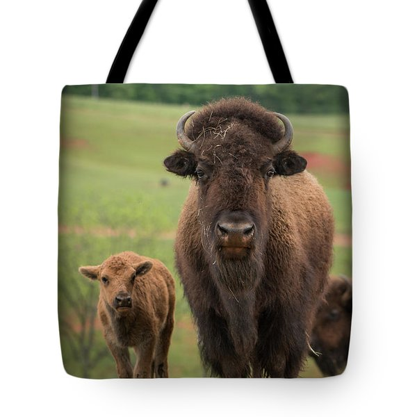 Tote Bag featuring the photograph Bison 4 by Joye Ardyn Durham