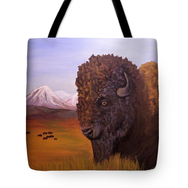 Bison And Plains Tote Bag