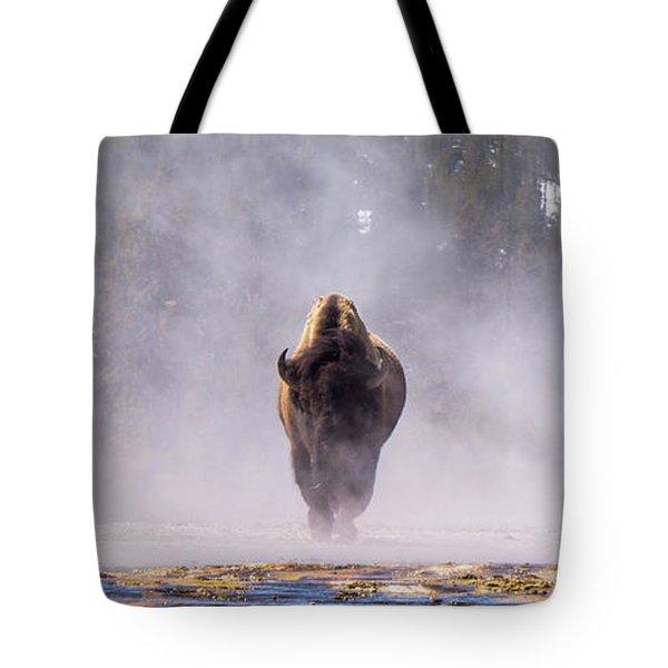 Bison At Biscuit Basin Tote Bag