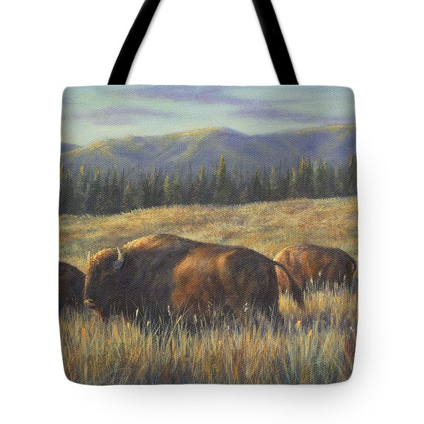 Bison Bliss Tote Bag