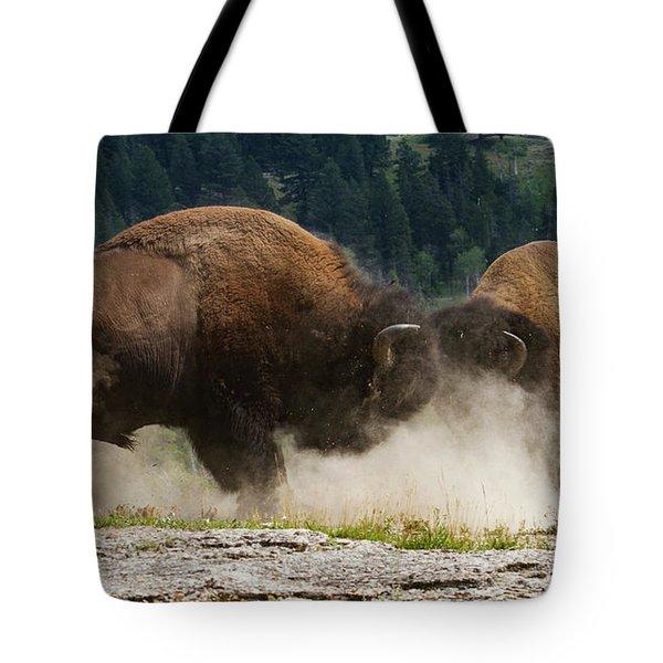 Bison Duel Tote Bag