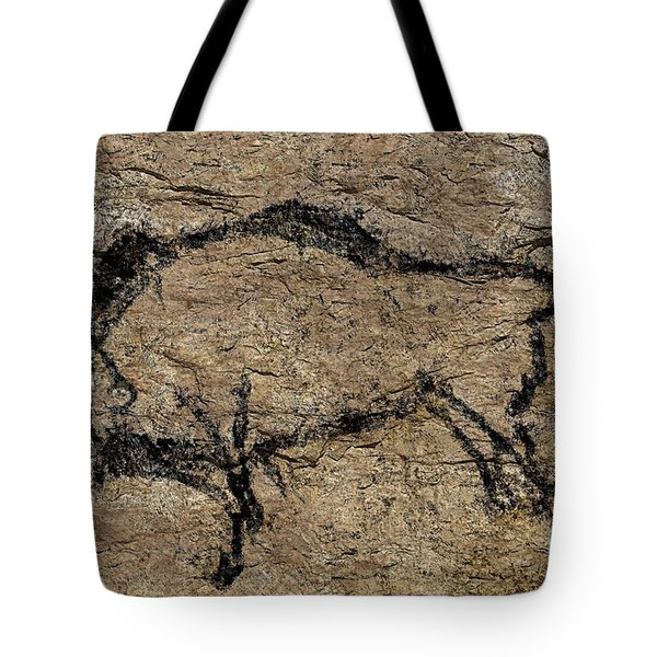 Bison From Niaux Cave Tote Bag