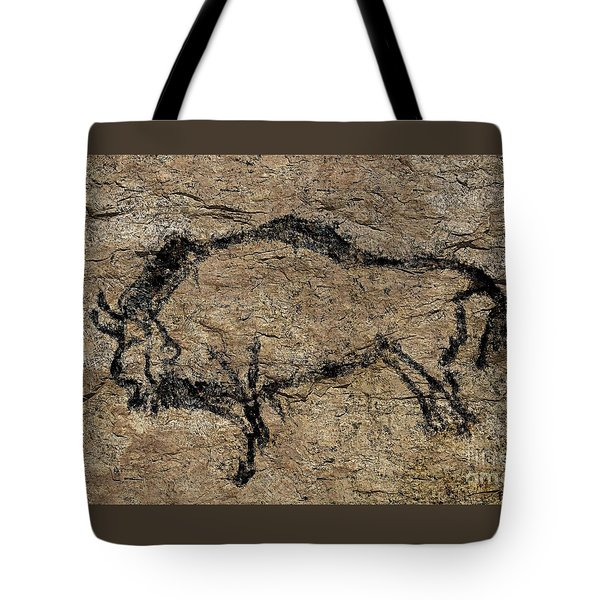 Bison From Niaux Cave Tote Bag by Dragica Micki Fortuna