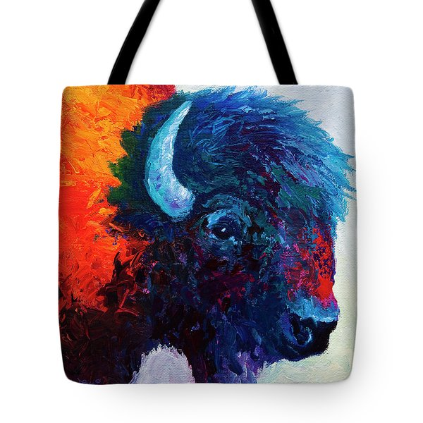 Bison Head Color Study I Tote Bag