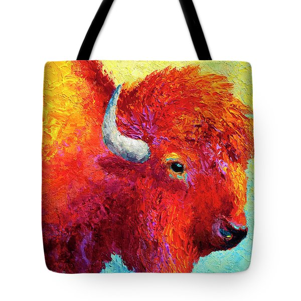 Bison Head Color Study Iv Tote Bag