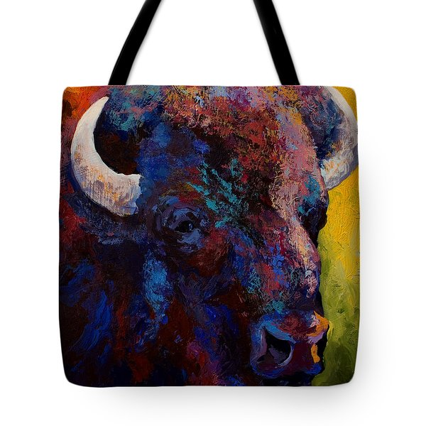 Bison Head Study Tote Bag