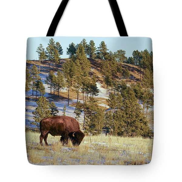 Bison In Custer State Park Tote Bag