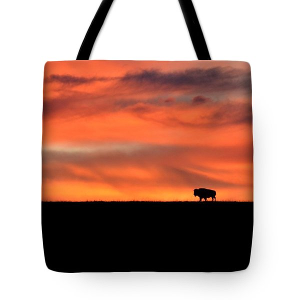 Bison In The Morning Light Tote Bag