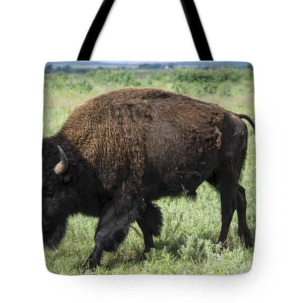Bison Tote Bag by Karen Slagle