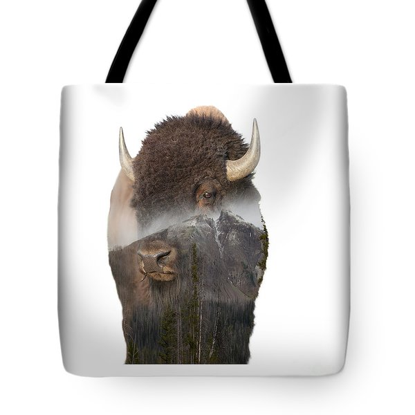 Bison Mountain  Tote Bag