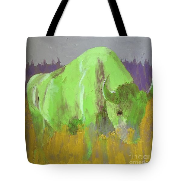 Bison On The American Plains Tote Bag by Donald J Ryker III