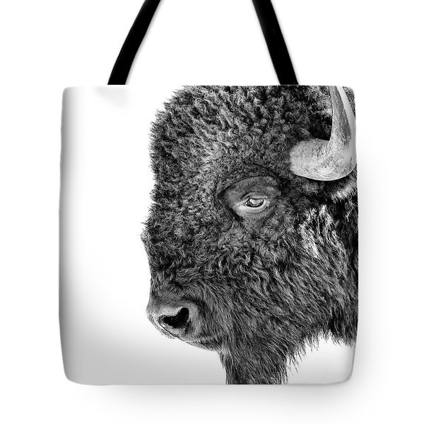 Bison Portrait Tote Bag