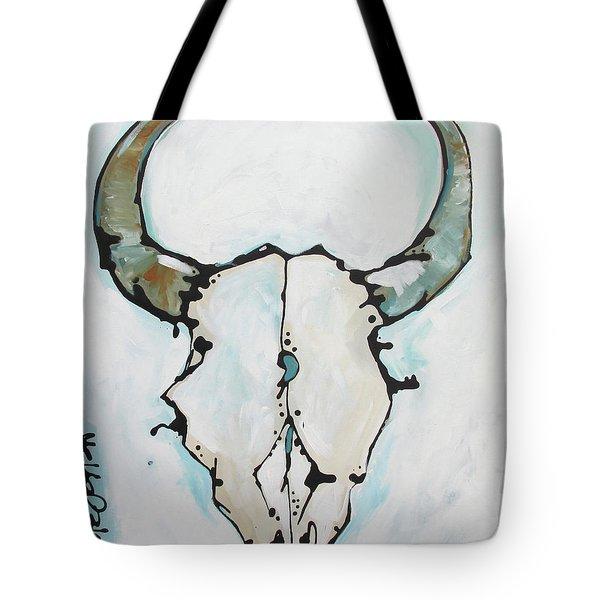 Bison Skull #2 Tote Bag