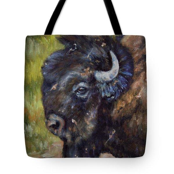Bison Study 5 Tote Bag