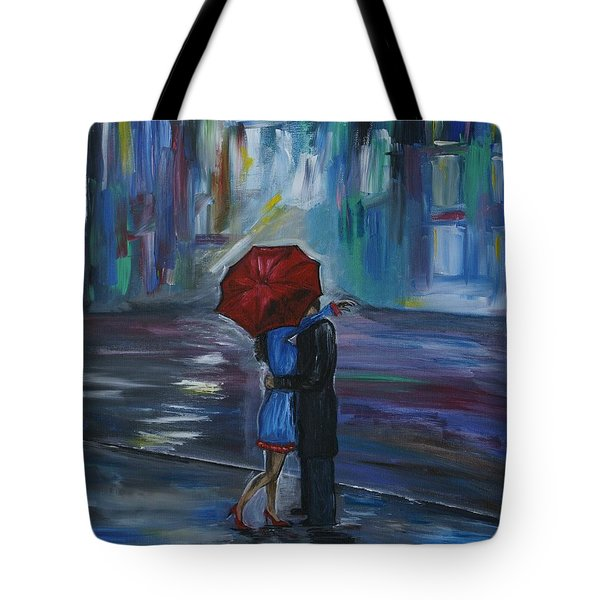 Bisous Tote Bag by Leslie Allen