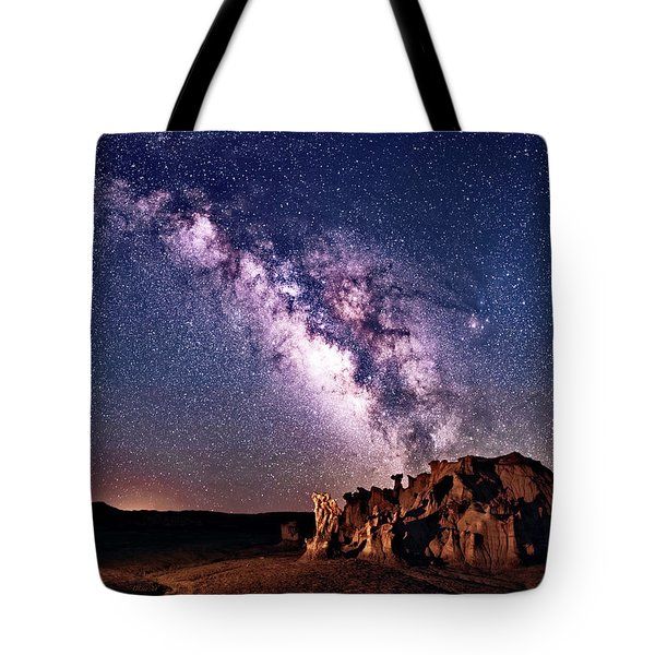 Bisti Badlands Night Sky Tote Bag